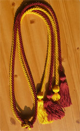 Maroon and Gold Double Tied honor cord
