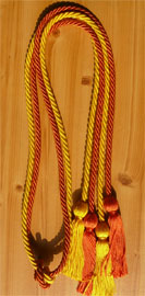 Orange and Gold Double tied honor cord