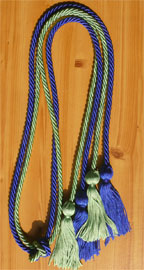 Royal Blue and Nile Greeen Double tied honor cord