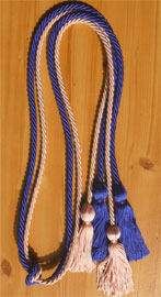 Royal Blue and Pink Double Tied honor cord