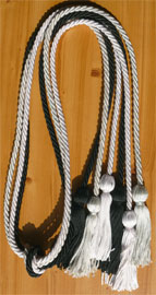 Light Blue White and Black Triple Honor Cord
