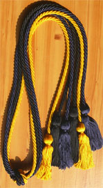 Navy Blue Gold and Black Triple Honor Cord
