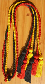 Red Gold and Black Triple Honor Cord