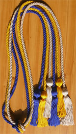Silver Royal Blue and Gold Tripple Honor Cord