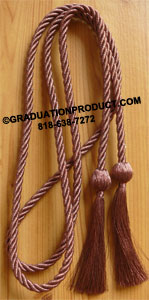 Purple and Gold Double Tied Graduation Honor Cords