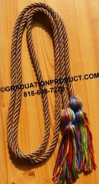 Rainbow Single Graduation Honor Cords