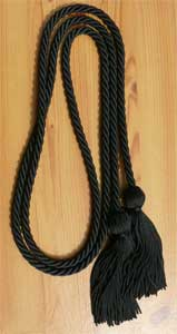 Black single honor cord