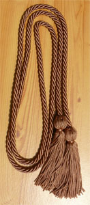 Copper single honor cord
