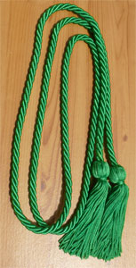 Kelly Green single honor cord