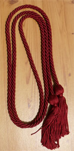 Maroon single honor cord