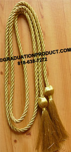 Metallic Gold single honor cord