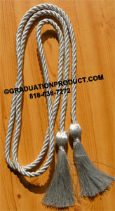 Metallic Silver single honor cord