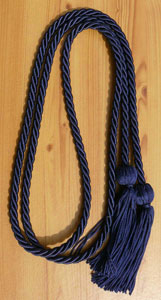 Navy Blue single honor cord