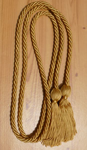 Old Gold single honor cord
