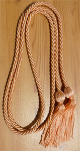 Peach single honor cord