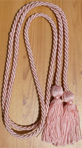 Pink single honor cord