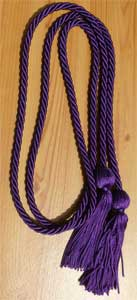 Purple single honor cord