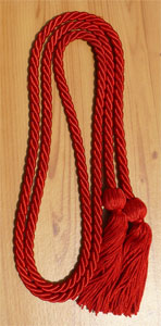 Red single honor cord