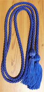Royal Blue single honor cord