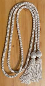 Silver single honor cord