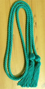 Teal single honor cord