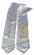 cal-class-of-2014-white-graduation-stole