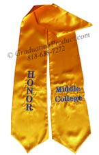 middile-college-goldhonor-stole