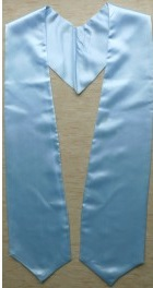 Light Blue Graduation Stole