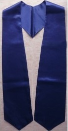 Navy Blue Graduation Stole