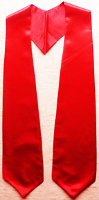 Red Graduation Stole