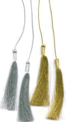 Thin Metallic Cord with Tassels