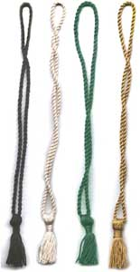 "Chainnete Bookmark tassels with 2.5"" Tassel and 10"" long loop"