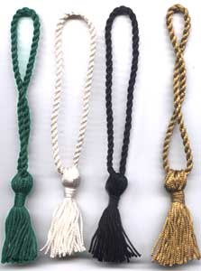 "Chainnete Bookmark tassels with 2.5"" Tassel and 4"" long loop. Can be made in you required size and color."