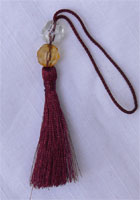 Metallic bookmark tassel