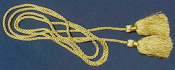 Gold Cord with Tassels