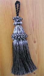Metallic Silver French Braided tassel