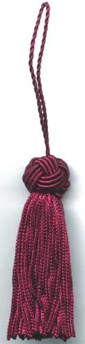 Red Small Tassel With Turk Knot