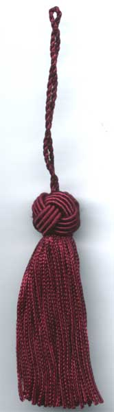 Burgundy Turk Knot Tassel With Loop