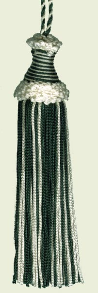White/ Hunter Green Tassel