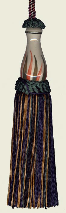 Multi Color Tassel with ceramic Glass Body