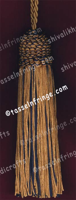 Black and Gold Tassels With  Loop