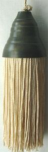 Tassel with solid brass antique finish