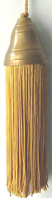 Tassel with solid brass copper finish