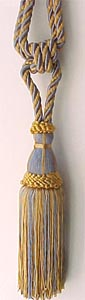 "Cotton Tieback 8"" Tassel, 40"" Spread"